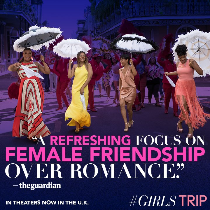 To our friends in the U.K.... #GirlsTrip opens tonight! Check it out! I promise you'll have a good time! https://t.co/zp7Zsu9OE8