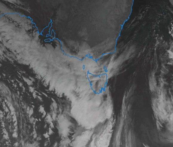 A cloudband moving over #Tasmania will bring...