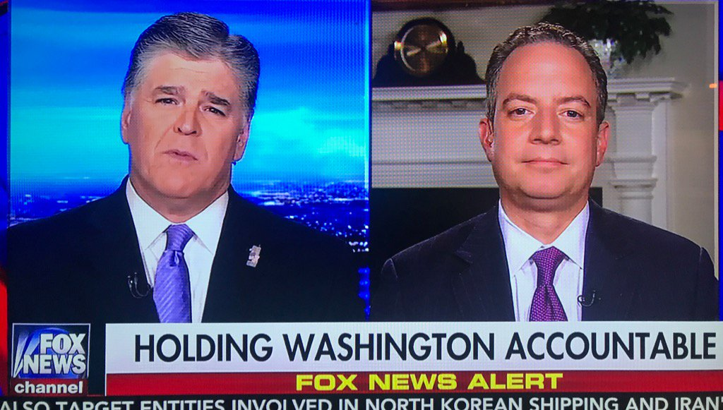 The Fox News chyron for Priebus' post firing interview tonight is a not so subtle dig at him... https://t.co/g5xcoZK7e0