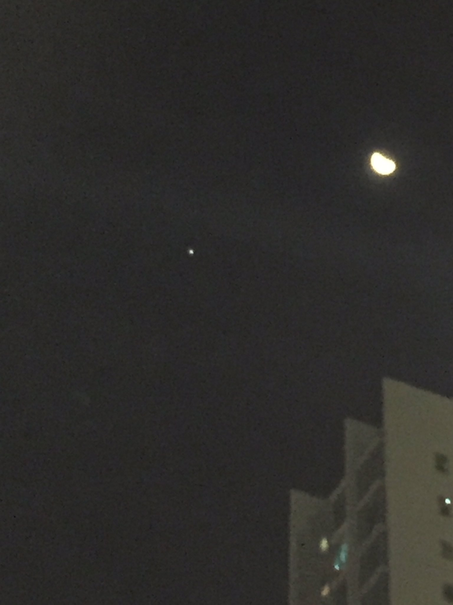 Hey tweeps the Moon and Jupiter are hanging out in the sky again -- take a look! https://t.co/xEhv3vnZvR