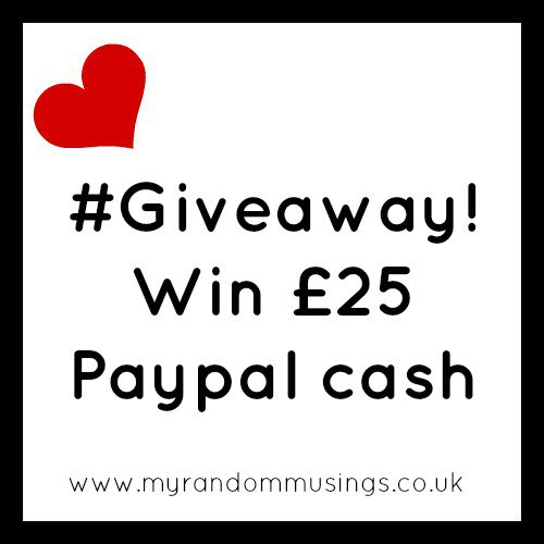 #Giveaway Win £25 Paypal Cash!