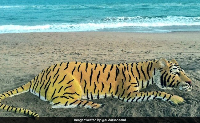 RT @SidStrader: On #InternationalTigerDay Sand Art by Sudarshan Pattnaik is truly incredible.👍👏 https://t.co/Vpy4A7HtEe