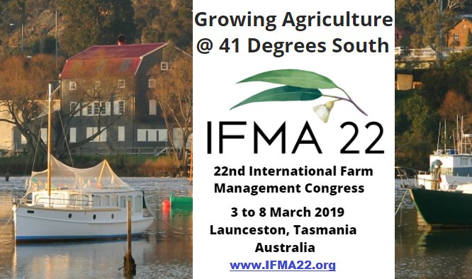 Save the date! The next Int'l Farm Management...
