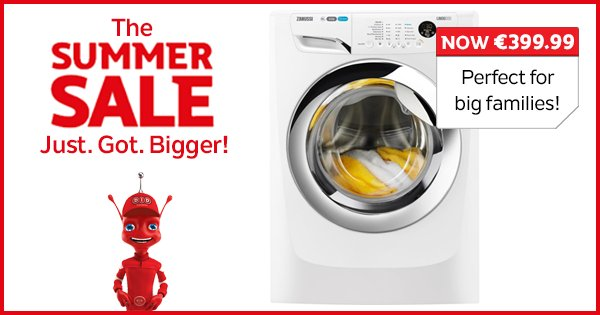 Washing more clothes than the Eastenders launderette? Check out this Zanussi 10KG Washer! https://t.co/wCUeWYMrlV https://t.co/zTB8RRyVHJ