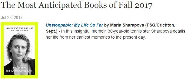 Thank you @PublishersWkly for including #Unstoppable in your Most Anticipated Books In Fall List ???????? https://t.co/vPZwAJLYkR