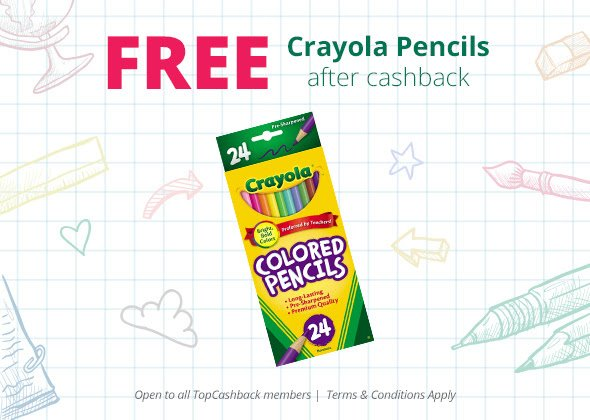 LAST DAY! FREE Crayola colored pencils 24 pack!  Here's How: freebie backtoschool