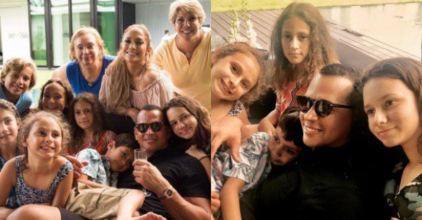 Alex Rodriguez hung out with his and Jennifer Lopez's kids and it's precious: