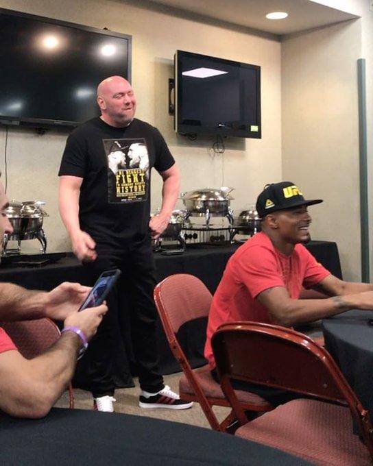 UFC 214 fighters sing Happy Birthday to Dana White.