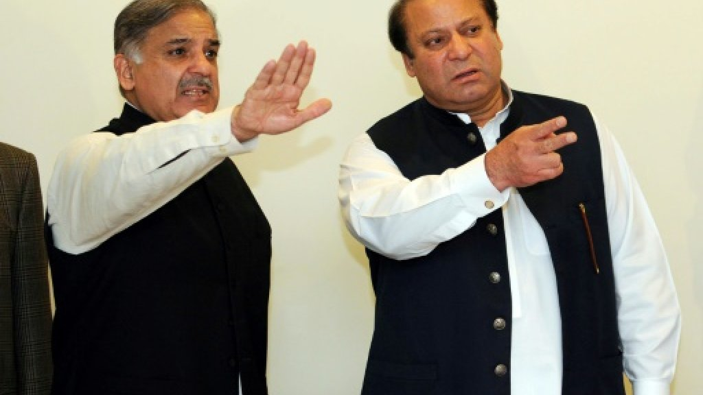 Pakistan's ex-PM Sharif names brother Shahbaz as successor