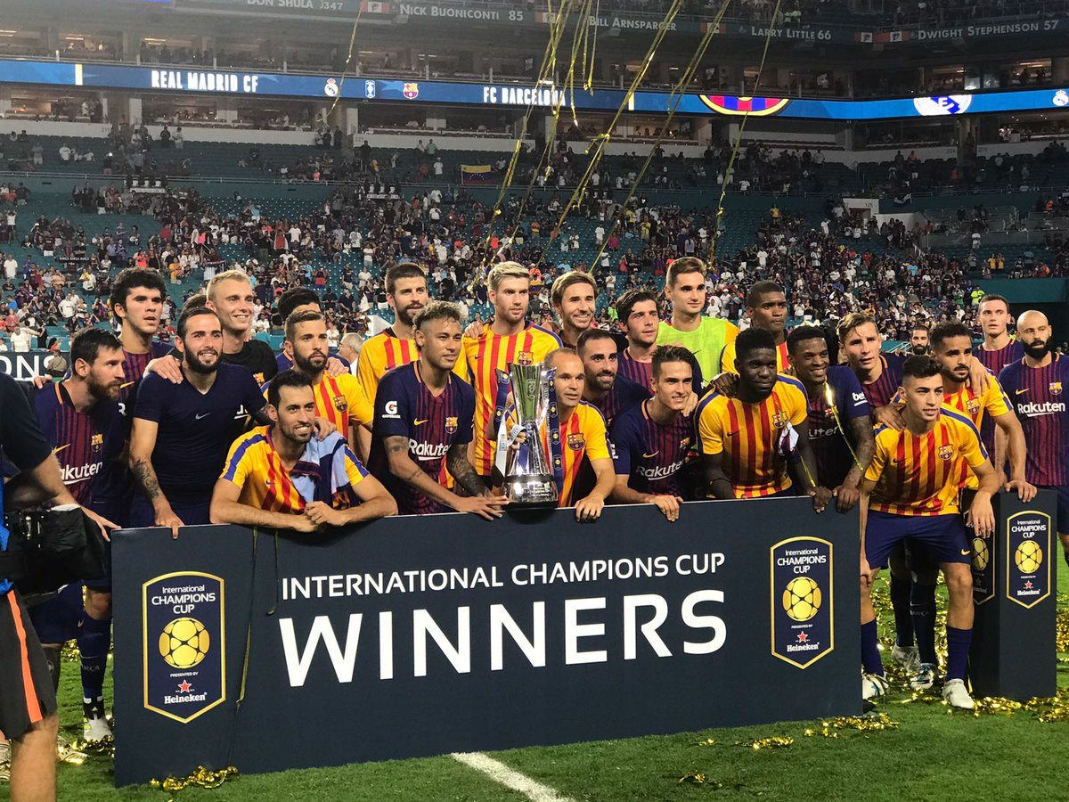 RT @FCBarcelona_es: ???? ¡¡¡Campeones!!! ???????????? #2017ICC #BarçaUStour #ElClasicoMiami https://t.co/bpIoIMFMBn