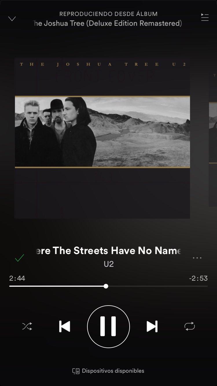 Mucha envidia de la mala para los que van a ver U2 hoy. Me haré mis series destrozándome los oídos con esta canción #U2JoshuaTreeTour2017 https://t.co/3NFICb1taA
