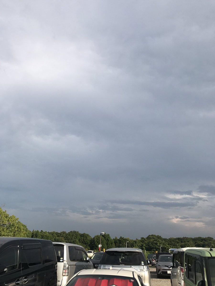 また雲が低い。最近ゲリラ雷雨⚡️ばっかりでゴールデンタイムにうかつに🎮起動出来ませぬ。