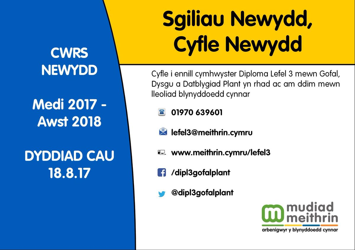 test Twitter Media - Do you know someone who would like to gain a level 3 qualification and enable them to work in a Cylch Meithrin?  RT please https://t.co/h3HoJZ6PWa