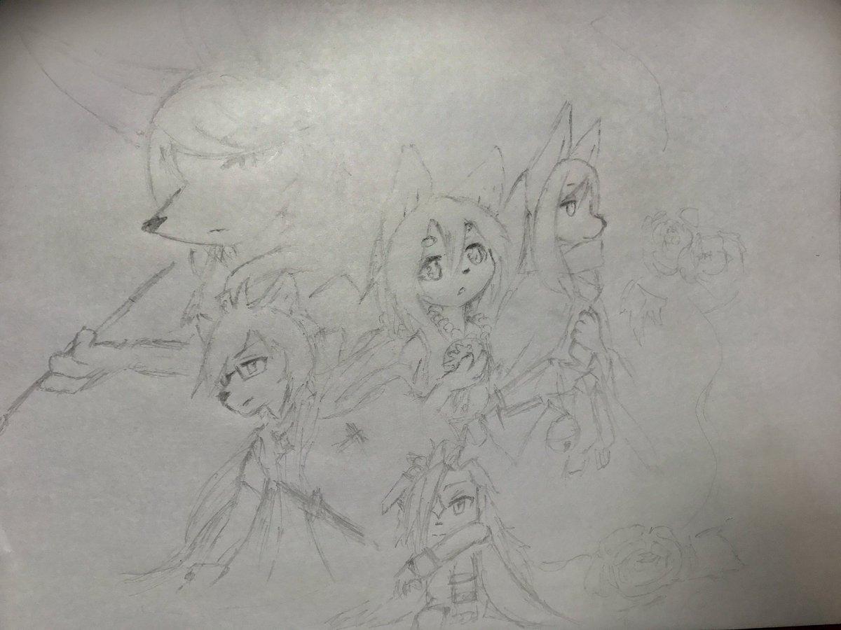 八犬伝シリーズの全員描いてた(全員でわないけど)