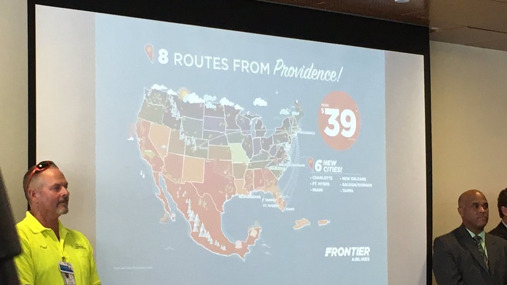 Frontier Airlines announces new destinations from T.F. Green Airport