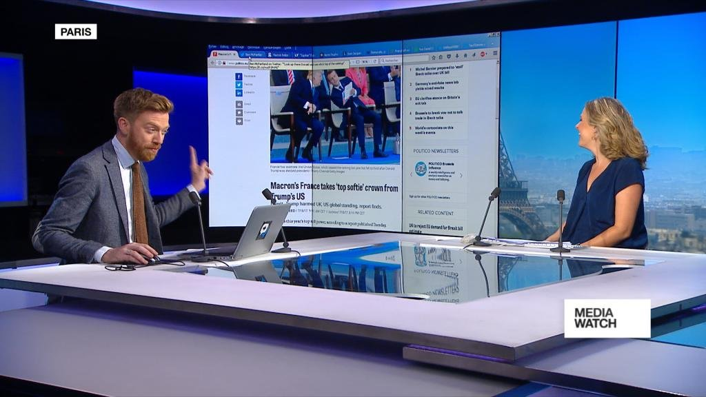MEDIAWATCH - France knocks US off top spot in 'soft power' index