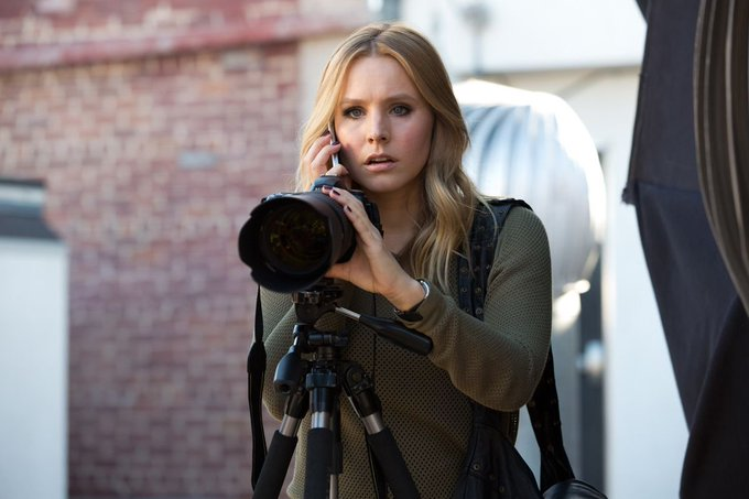"Happy Birthday, Kristen Bell!  Seen here in the crime drama, ""Veronica Mars\"" (2014)."