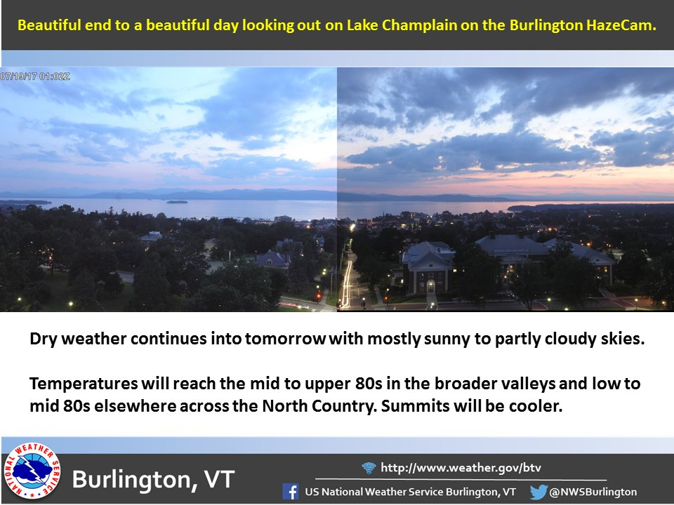 test Twitter Media - Enjoy the dry and warm weather into tomorrow (7/19/17). #vtwx #nywx https://t.co/CPcsnuL0YC