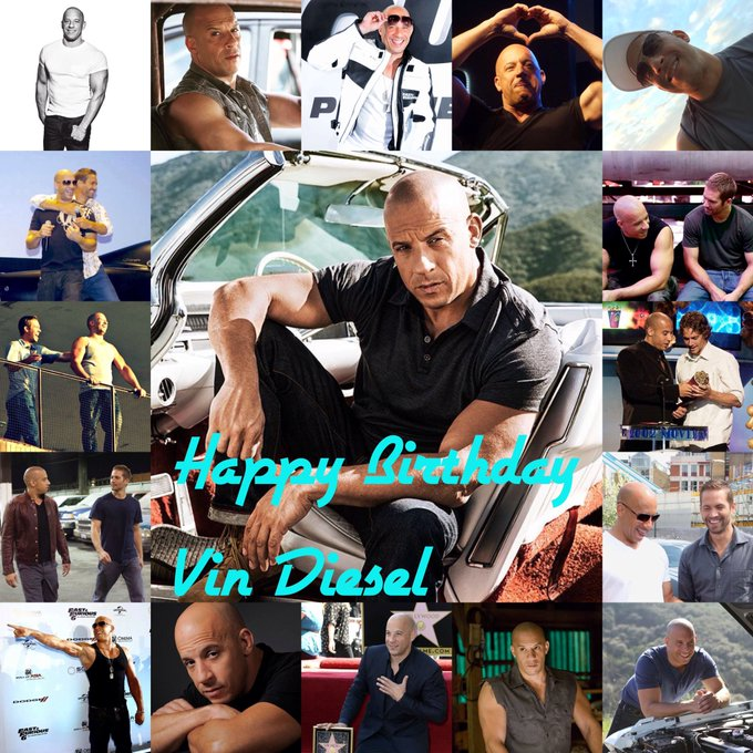 Happy Birthday To The Amazing Awesome!!! Vin Diesel I Hope You Have An Amazing Day!!!
