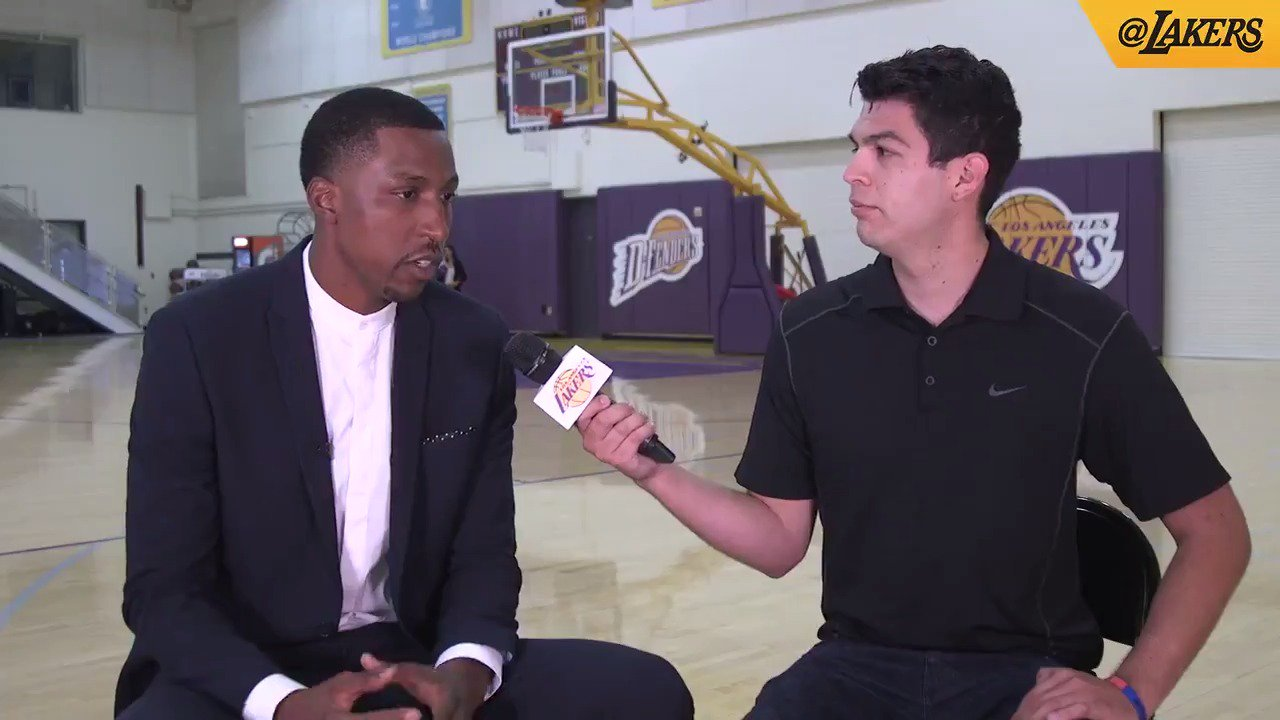 ��: @JoeyARamirez sits down with @CaldwellPope, to get to know the newest Laker. https://t.co/jql1q9qC6x