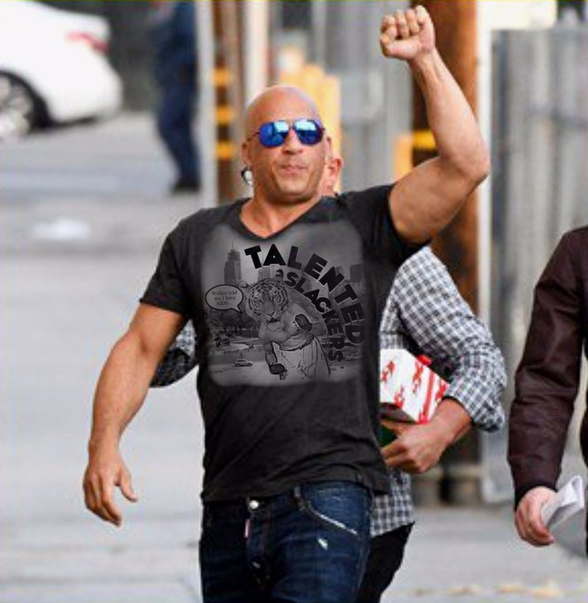 Vin Diesel when someone asks him if he likes the Talented Slackers podcast! Happy Birthday Vin!