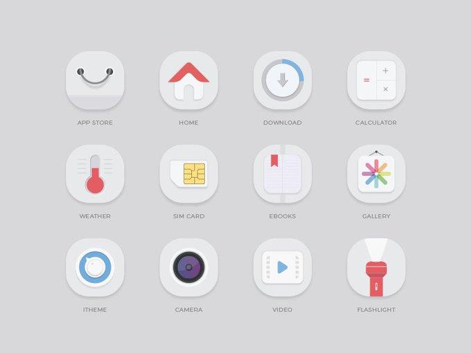 Elegant Mobile App Icons   Icons by ggblog2016 freebie