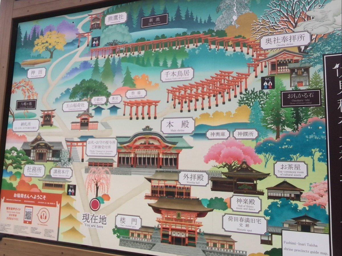銭湯経営111京都アニメ聖地視察で伏見稲荷大社へ。有名な千本鳥居、実は境内全体の鳥居の数は千本どころじゃなく3000本を