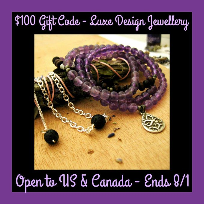 $100 GC to Luxe Design Jewellery-1-US and Canada-Ends 8/1