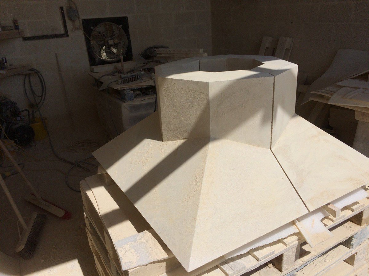 Beautiful Bath Stone Chimney Base by Ben Hillard #bathstone #chimney #stonemason #parklane #quarry #c