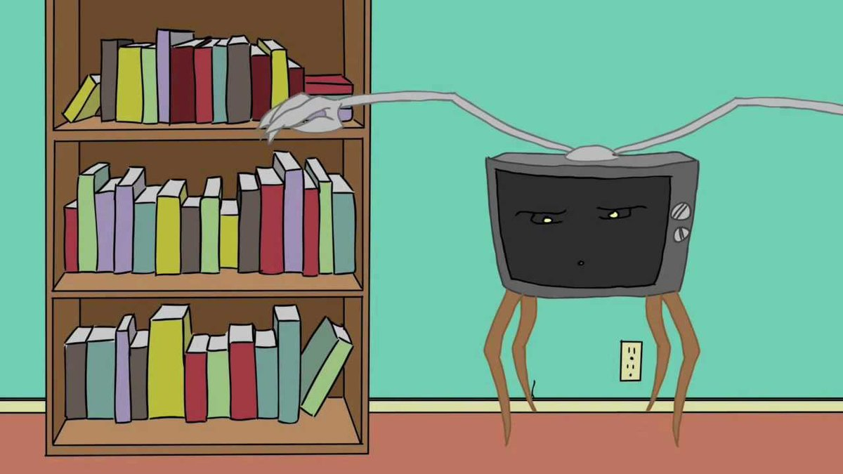essay on watching tv or reading books