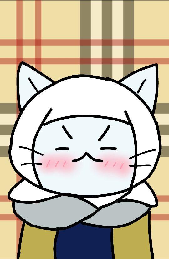 今日は笑顔の謙信を描きました。この画像をプロフィール画像のサイズにして載せたいです。 #今日のねこねこ  #ねこねこ日本