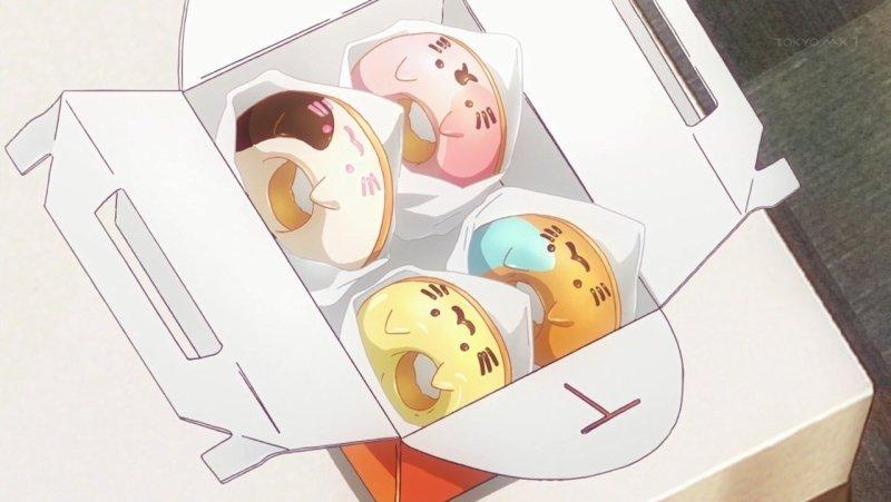 やはりドーナツは危険だった…こわいこわい:(;゙゚'ω゚'):#newgame #SHIROBAKO
