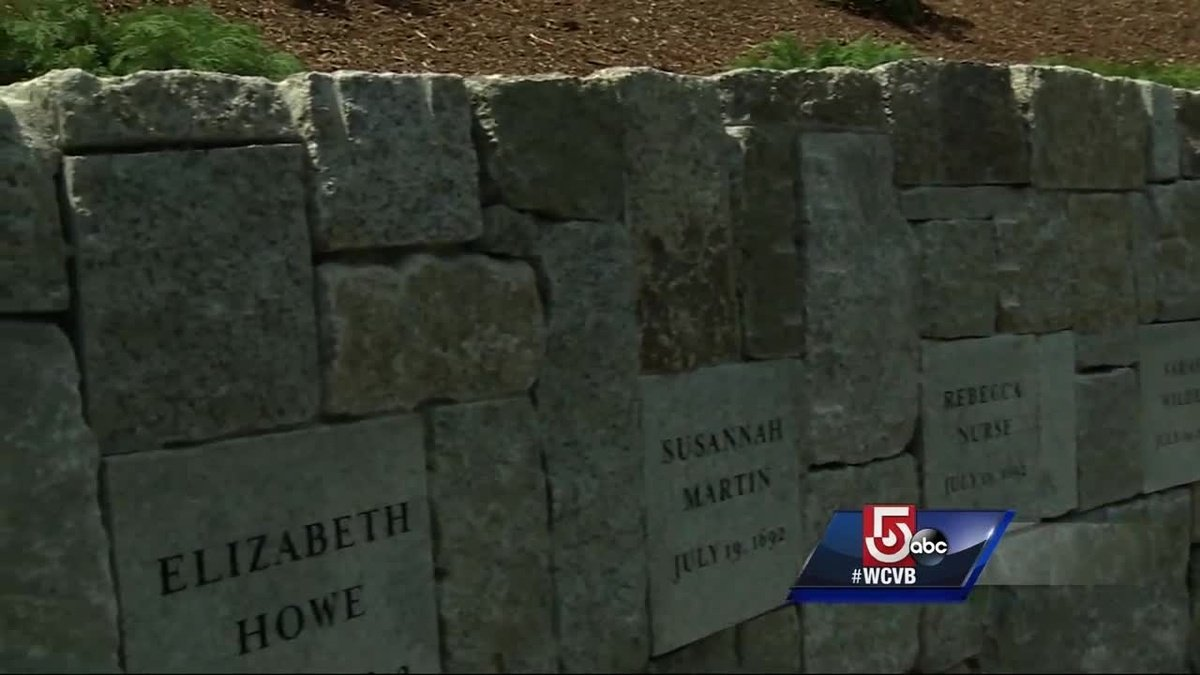 Witch trials memorial unveiled in Salem