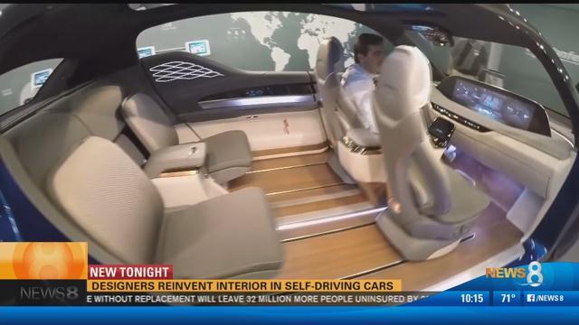 Designers reinvent interior in self-driving cars
