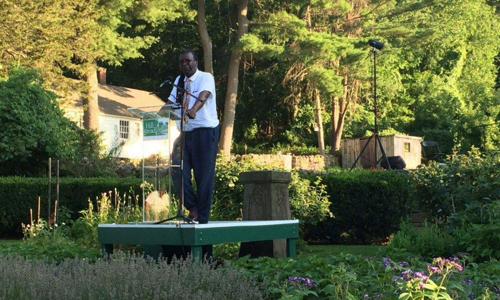 FOX61's Sarah Cody emcees Sunken Garden Poetry Festival at Hill-Stead Museum