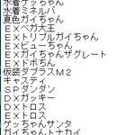 ロボガのキャラクター順のキャラ書いてるんだけど古い方~ これみんなもこんなような順番?