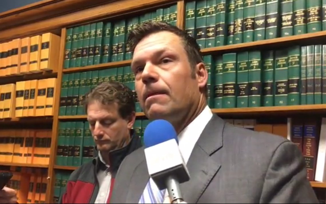 Kobach makes claims of noncitizen voters in Kansas as he takes national stage