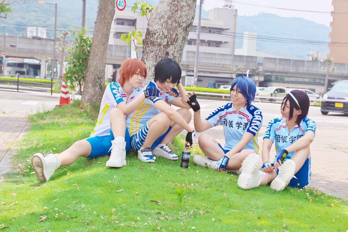 【コスプレ/弱虫ペダル】先輩たちとワイワイ(*´◒`*) #コミエス