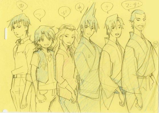こちらは「有頂天家族2」放送終了後に作監・総作監の秋山有希さんが描いて下さったイラスト。ミニファンブックには収録されない