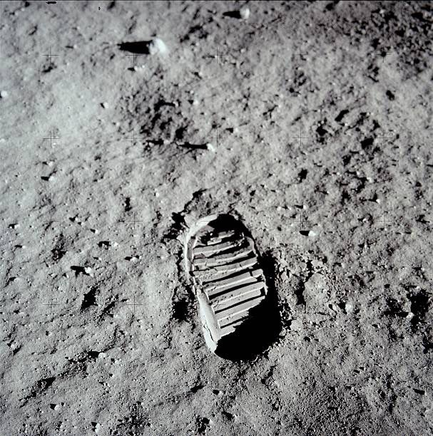 The Coolest Footprint Of All Time Taken On This Day In 1969 MoonLanding