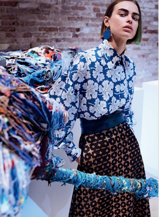 Audacious print power! Birgit Kos in #FendiFW17 for #@VogueOfficialUS photographed by @mariotestino https://t.co/Aw4FRSDKV1