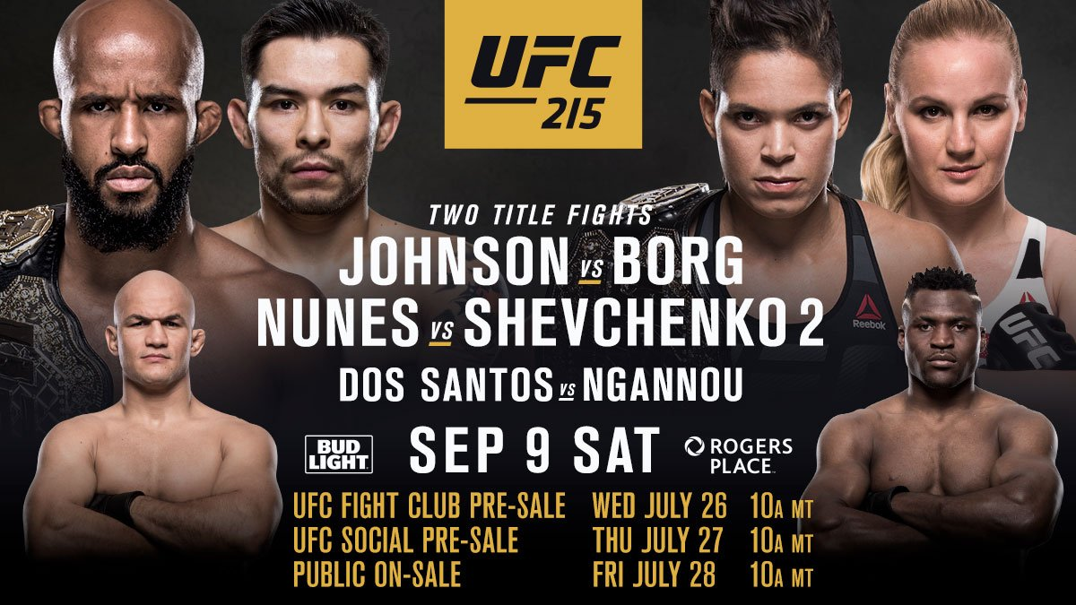test Twitter Media - RT @UFC_CA: Tickets for #UFC215 in Edmonton go on sale next week. https://t.co/Buhkv8N2fR