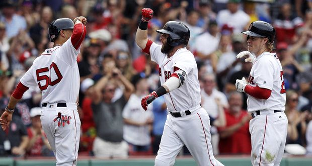 Dustin Pedroia's power surge continues in Boston Red Sox loss to Toronto Blue Jays