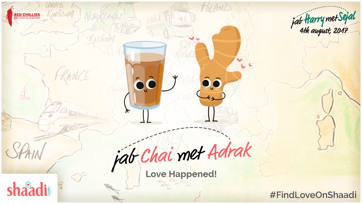 test Twitter Media - We are glad that Chai met Adrak! 💞😇  #JHMS #FindLoveOnShaadi #FridayFeeling @iamsrk @AnushkaSharma https://t.co/uxcV2gf5eq