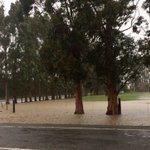 Surface flooding and slips as heavy rain heads south