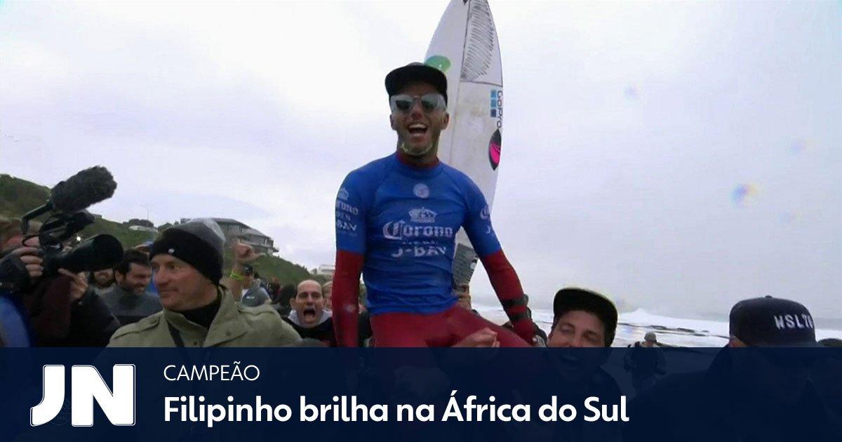 Brasileiro Filipe Toledo é campeão da etapa do mundial de surfe em Jeffreys Bay: https://t.co/KeQl0mSb0T https://t.co/GMklGRz4R4