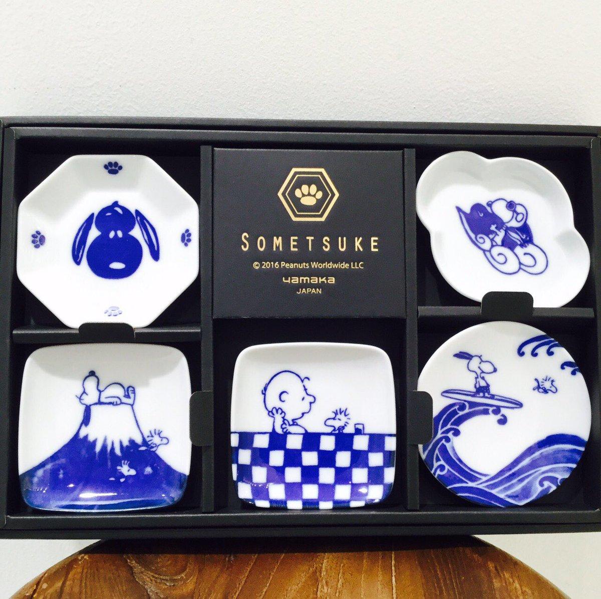 ⁂【豆皿揃 ¥3,000+tax】スヌーピーには珍しい藍色で和テイストの豆皿🐶🐾シンプルなのでいろんなシーンで活躍してく