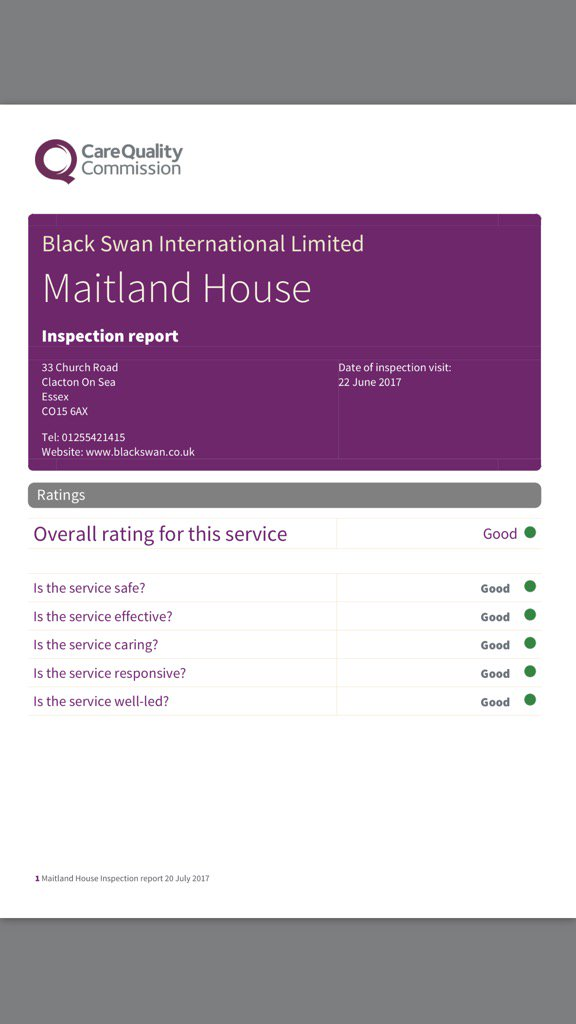 Well Done Maitland House Another Good CQC Report