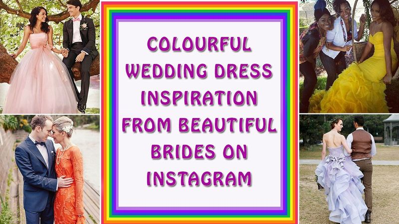 Wedding inspiration: 80 colourful wedding dresses for brides too bold for