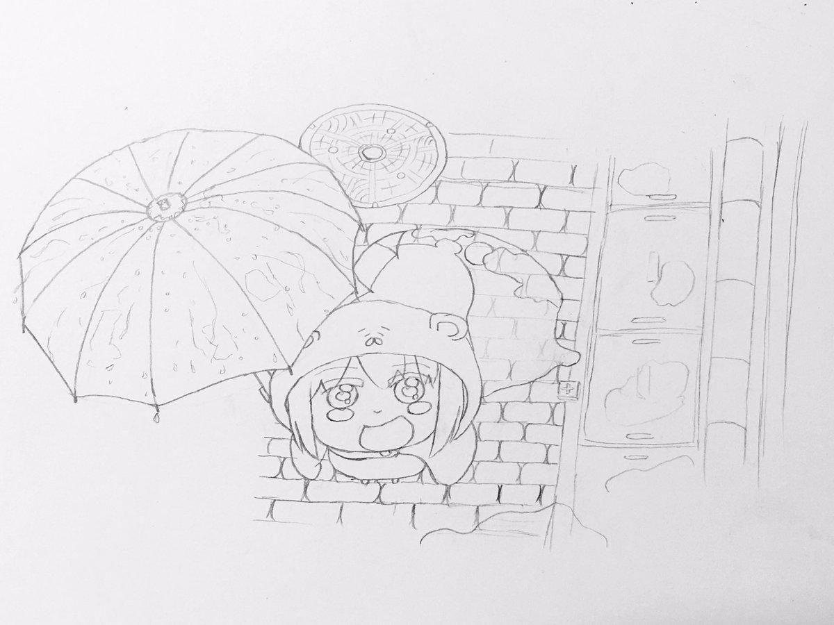 雨上がりのうまるちゃんイメージして描きました!(⸝⸝⸝ᵒ̴̶̷ ⌑ ᵒ̴̶̷⸝⸝⸝)✨#うまるちゃん#絵描きさんと繋がり